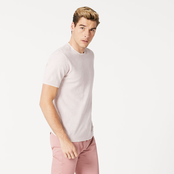 LEVIN KNITTED T-SHIRT, Pink, hi-res