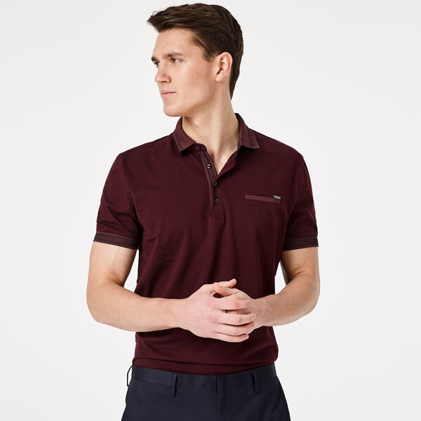 LORRY POLO SHIRT, Burgundy, hi-res