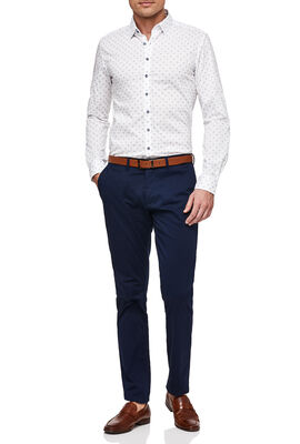 Benaco Shirt, White/Navy, hi-res