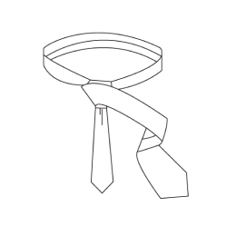 Half Windsor Knot Step 5
