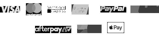 Visa Master Card American Union Pay zippay Afterpay Applepay